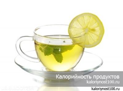 Калорийность чая с сахаром и лимоном