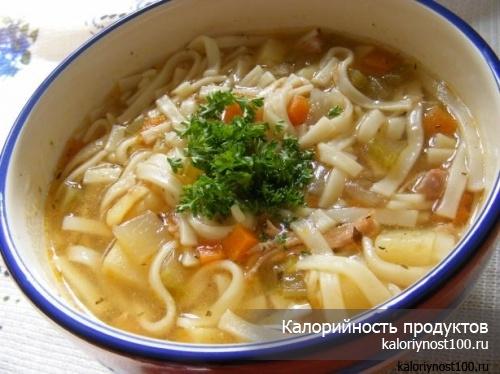 Суп курином бульоне калории