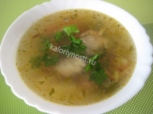 Сколько калорий в рисовом курином супе — 3