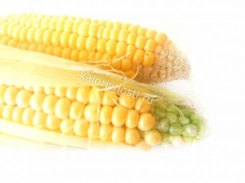 Калории в початке кукурузы отварной