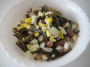 Диетический салат с говядиной и морской капустой - рецепт пошаговый с фото