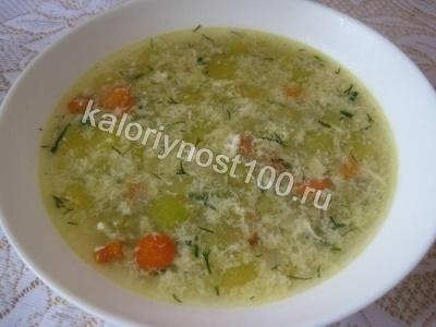 Суп с яйцом и кабачками - рецепт пошаговый с фото